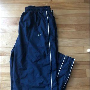 NIKE VINTAGE navy blue warm-up pants